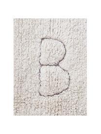 Tappeto con design a lettere ABC, Beige, Larg. 90 x Lung. 130 cm (taglia XS)