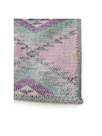 Passatoia kilim Ana, 80% poliestere 20% cotone, Rosa, multicolore, Larg. 75 x Lung. 230 cm