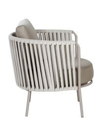 Garten-Loungesessel Sunderland mit Sitzpolster, Beine: Stahl, galvanisch verzink, Bezug: Polyacryl, Taupe, Helltaupe, B 73 x T 74 cm