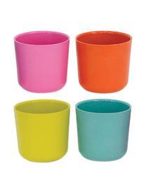 Set tazze seza manico in bambù Bambino Pop 4 pz, Fibra di bambù, melamina, adatto per alimenti Senza BPA, PVC e ftalati, Turchese, verde, rosa, rosso corallo, 250 ml