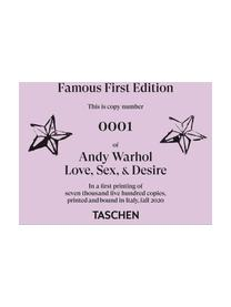 Bildband Andy Warhol. Love, Sex and Desire, Papier, Hardcover, Lila, Mehrfarbig, 34 x 29 cm