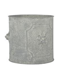 Übertopf-Set Lowa aus Metall, 2-tlg., Metall, Grau, Sondergrößen