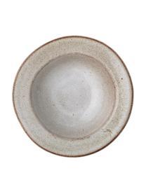 Ręcznie wykonany talerz głęboki z kamionki Sandrine, Kamionka, Odcienie beżowego, Ø 22 cm