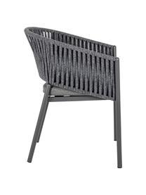 Krzesło ogrodowe Florencia, Stelaż: aluminium malowane proszk, Antracytowy, S 60 x W 80 cm