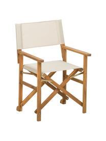 Inklapbare regisseursstoel Zoe met houten frame, Frame: geolied acaciahout, Wit, B 52  x D 58 cm