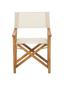 Klappbarer Regiestuhl Zoe mit Holzgestell, Gestell: Akazienholz, geölt, Weiß, B 52 x T 58 cm