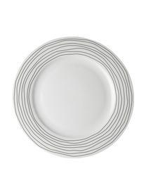 Piatto piano Eris Loft 4 pz, Porcellana, Bianco, nero, Ø 26 x Alt. 2 cm