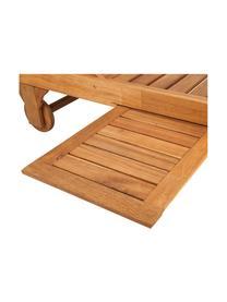 Gartenliege Somerset mit Auflage und ausziehbarem Tisch, Akazienholz, geölt, Akazienholz, 70 x 200 cm