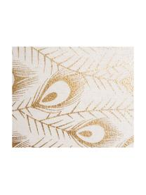 Cuscino Lindsey, con imbottitura, Rivestimento: poliestere, Bianco, dorato, Larg. 45 x Lung. 45 cm