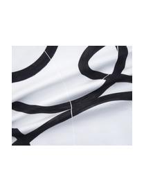 Kissenhülle Elijah mit abstraktem Print, 100% Baumwolle, Beige, Schwarz, Weiß, 40 x 40 cm