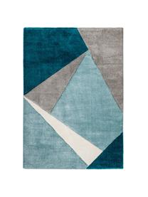 Teppich My Broadway mit geometrischem Muster in Beige-Blau, Flor: 100% Polypropylen, Blautöne, Beige, Creme, B 160 x L 230 cm (Größe M)