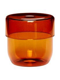Set 2 contenitori in vetro Transisto, Vetro, Ambra, Set contenitori S