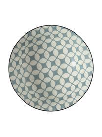 Misa do sałatek Double, Kamionka, Odcienie niebieskiego, biały, Ø 23 x W 9 cm