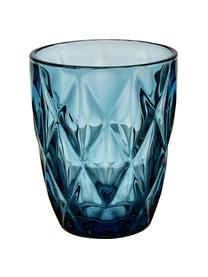 Wassergläser Colorado mit Strukturmuster, 4er-Set, Glas, Grün, Rosa, Blau, Grau, Ø 8 x H 10 cm