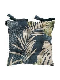 Poduszka na siedzisko Reva, Tapicerka: 50% bawełna, 45% polieste, Niebieski, odcienie beżowego i odcienie zielonego, S 45 x D 45 cm