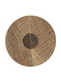 Steingut Salz- und Pfeffermühle Bizz mit Holzdeckel, 2er-Set, Deckel: Eichenholz, Mahlwerk: Keramik, Bernsteifarben, Braun, Holz, Ø 5 x H 17 cm