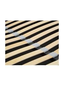 Letto imbottito in tessuto grigio con contenitore Dream, Rivestimento: Poliestere (tessuto strut, Tessuto grigio chiaro, 180 x 200 cm