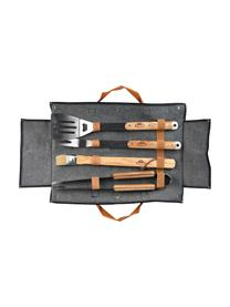 Set utensili barbecue Jeans 5 pz, Nero, Larg. 50 x Alt. 36 cm