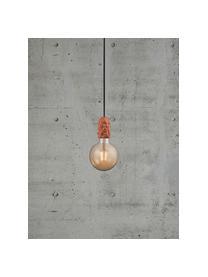 Kleine hanglamp Hang van porselein, Fitting: porselein, Terracottakleurig, crèmewit, Ø 5 x H 9 cm