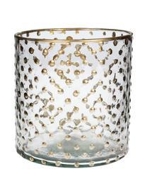 Teelichthalter Goldma, Glas, lackiert, Goldfarben, Ø 12 x H 14 cm