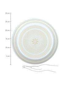 Assiette plate en porcelaine Sonia, 2 pièces, Blanc