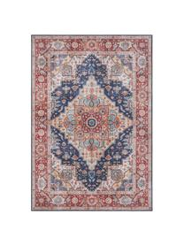 Alfombra Sylla, estilo vintage, Azul, rojo, An 200 x L 290 cm (Tamaño L)