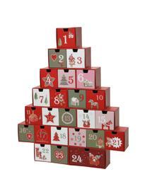 Kalendarz adwentowy Riko, Papier, Czerwony, zielony, blady różowy, biały, S 37 x W 44 cm