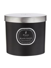 Dreidochtduftkerze Black Magic (Orange & Zitronengras), Behälter: Glas, Schwarz, Creme, Ø 12 x H 11 cm