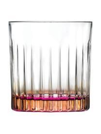 Verre à cocktail bicolorecristalLuxion®Gipsy, 6pièces, Transparent, couleur cuivrée, rose vif