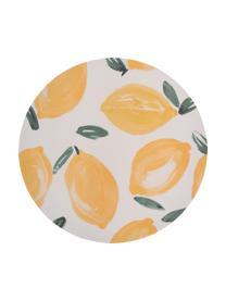 Assiette plate bambou Sicilian Summer, 4pièces, Beige, jaune