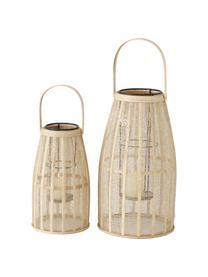Set 2 lanterne Namur, Struttura: metallo rivestito, Rattan, Set in varie misure