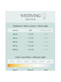 Lampada da tavolo a LED dimmerabile Asteria, Paralume: alluminio, verniciato, Base della lampada: acciaio verniciato, Bianco crema, dorato, Ø 31 x Alt. 42 cm