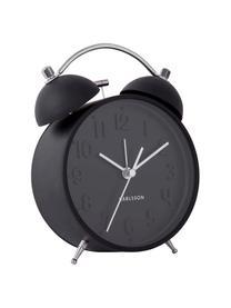 Despertador Iconic, Acero, Negro, acero, An 11 x Al 15 cm