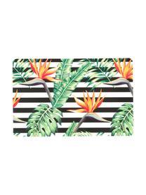 Set 6 tovagliette americane Tropicana, Materiale sintetico, Nero, bianco, verde, rosso, giallo, Larg. 30 x Lung. 45 cm