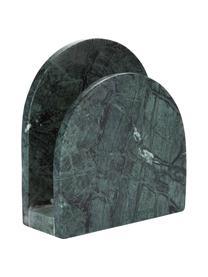 Marmereren servettenhouder Charlton, Marmer, Groen, 15 x 14 cm