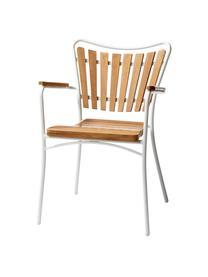 Gartensitzgruppe Ellen, 5-tlg. aus Holz und Metall, Teakholz, geölt Aluminium, pulverbeschichtet, Weiß, Teakholz, Sondergrößen