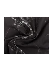Housse de coussin 45x45 imprimé marbré Malin, Imprimé marbré, noir
