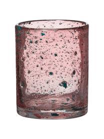 Świecznik na podgrzewacze Mina, Szklanka, Różowy, Ø 11 x W 12 cm