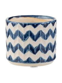 Portavaso Zigzag, Ceramica, Blu, beige chiaro, Ø 8 x Alt. 7 cm