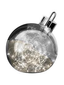 LED Leuchtobjekt Aggia, batteriebetrieben, Chrom, Ø 20 x H 22 cm