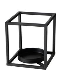 Świecznik Quattro, Stelaż: metal powlekany, Czarny, S 16 x W 18 cm