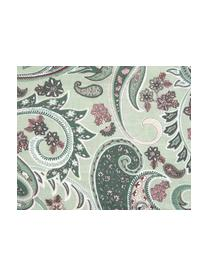 Baumwoll-Bettwäsche Liana in Grün mit Paisley-Muster, Webart: Renforcé Fadendichte 144 , Grün, Mehrfarbig, 240 x 220 cm + 2 Kissen 80 x 80 cm