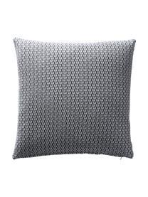 Gemusterte Kissenhüllen Cousin in Grau, 3er-Set, 100% Baumwolle, Grau, Weiß, 45 x 45 cm