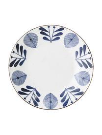 Ručně vyrobená servírovací mísa z porcelánu Camellia, různé velikosti, Bílá, modrá, zlatá