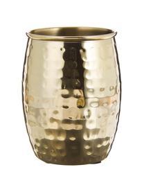 Edelstahl-Zahnputzbecher Anetta, 2 Stück, Rostfreier Stahl, beschichtet, Messingfarben, Ø 9 x H 10 cm