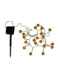 Solar lichtslinger Glamour, 280 cm, 20 lampions, Lampions: metaal, Goudkleurig, L 280 cm