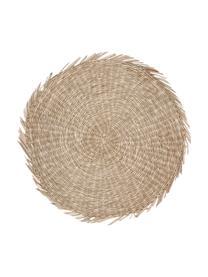 Rundes Seegras-Tischset Whirl, Seegras, Beige, Ø 38 cm