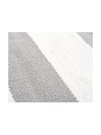 Tappeto in cotone a righe Blocker, 100% cotone, Bianco crema/grigio chiaro, Larg. 200 x Lung. 300 cm (taglia L)