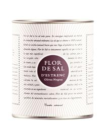 Gewürzsalz Flor de Sal d´Es Trenc (Oliven), Dose: Pappmembran, Metall, Creme, Goldfarben, Braun, 150 g