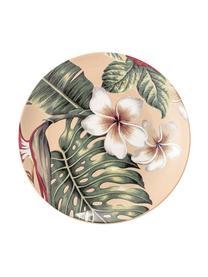 Talerz śniadaniowy Aruba, 2 szt., Kamionka, Kremowobiały, zielony, czerwony, Ø 20 cm